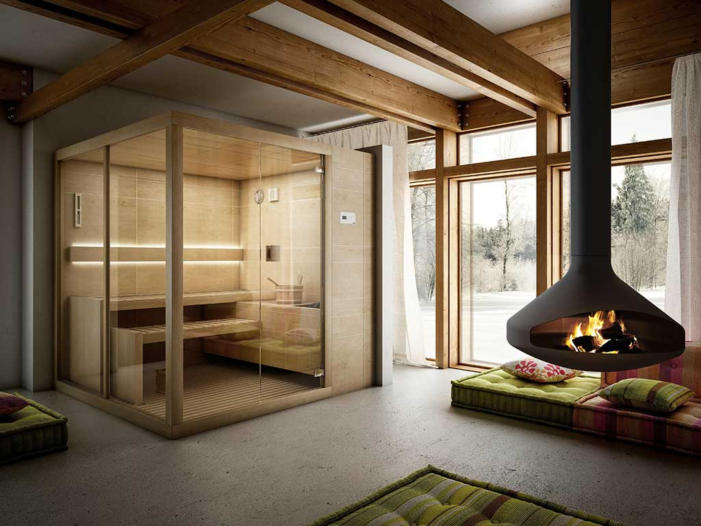 sauna finlandese relax in casa la casa in ordine. Black Bedroom Furniture Sets. Home Design Ideas