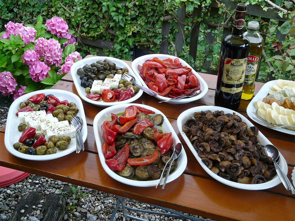 buffet per party con finger food