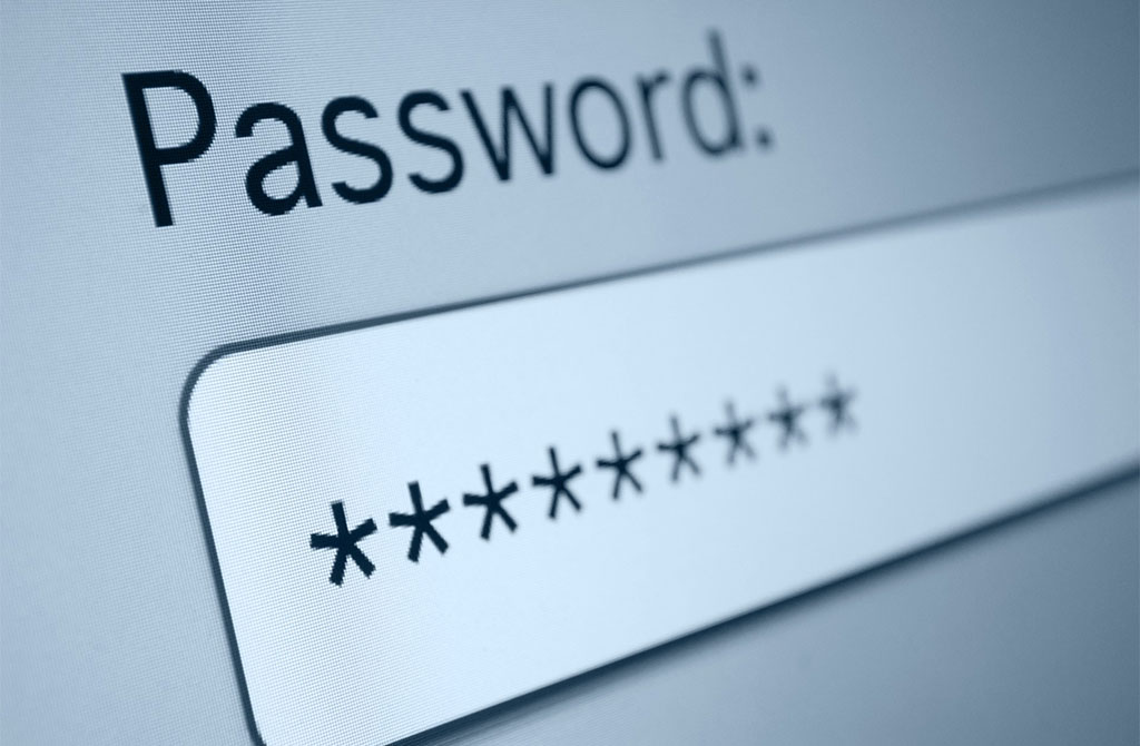 schermata pc per inserire password domotica