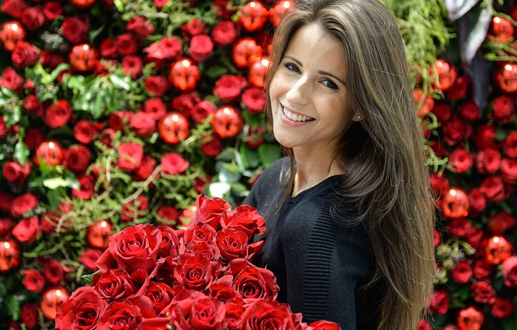 rose rosse fiera donna francoforte
