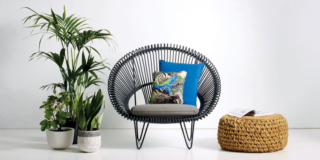 poltroncina outdoor pouf pianta