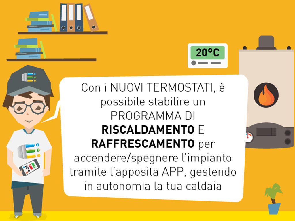grafica termostato smart