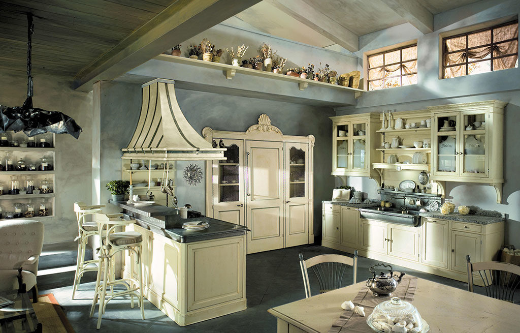 cucina stile country bianco