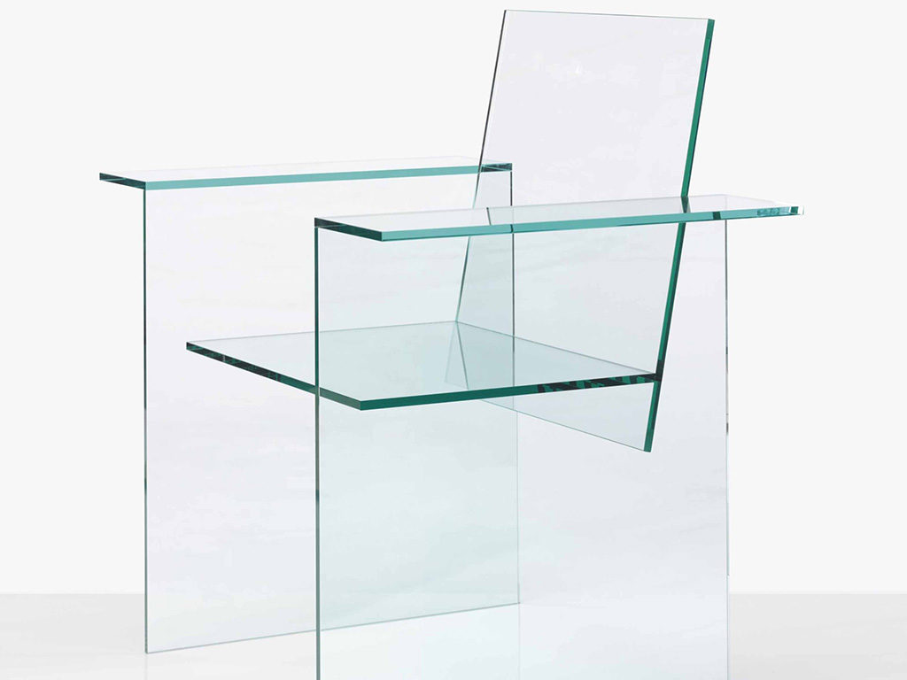 glass chair kuramata