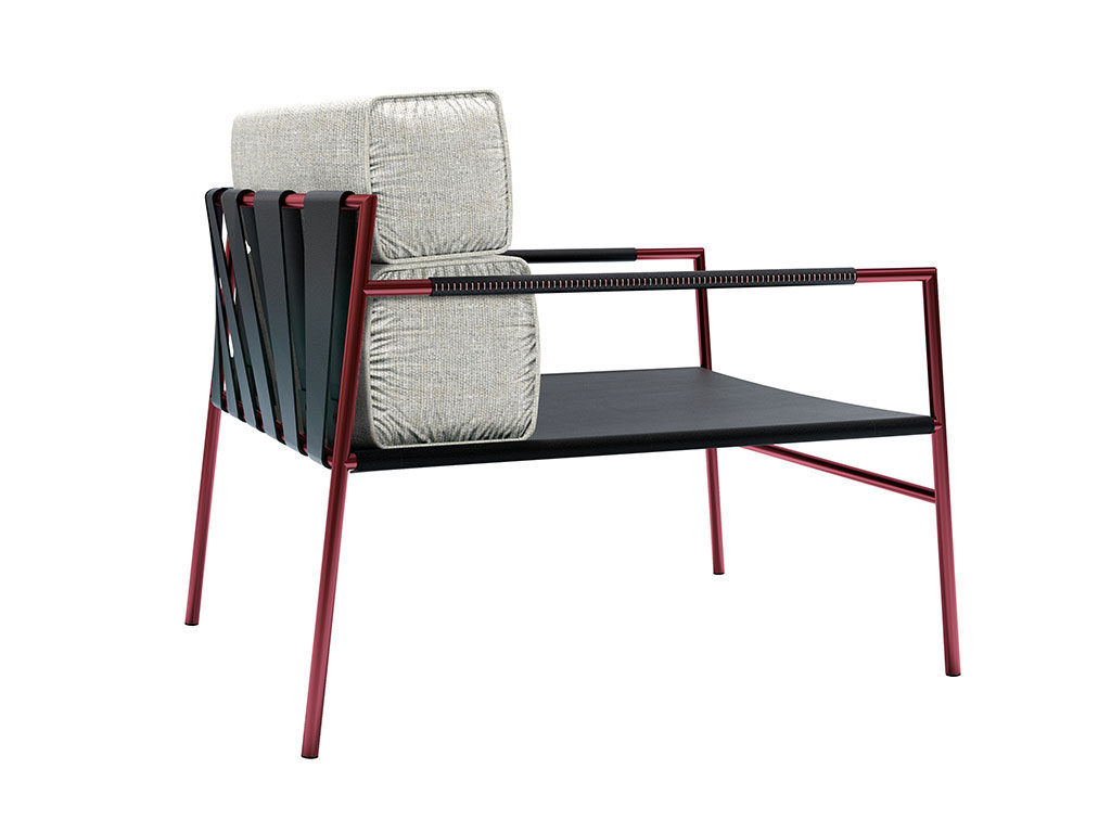 poltrona easy chair red