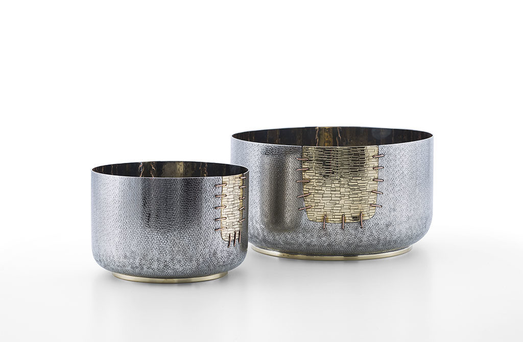 ciotole argento portafrutta