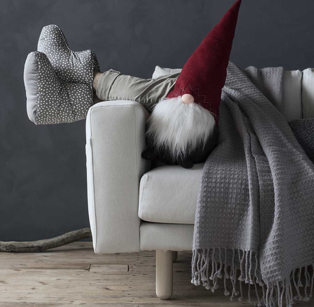 folletto natale divano coperta