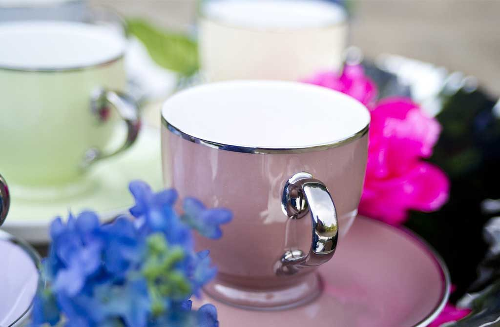 tazzina da caffe bordo argento