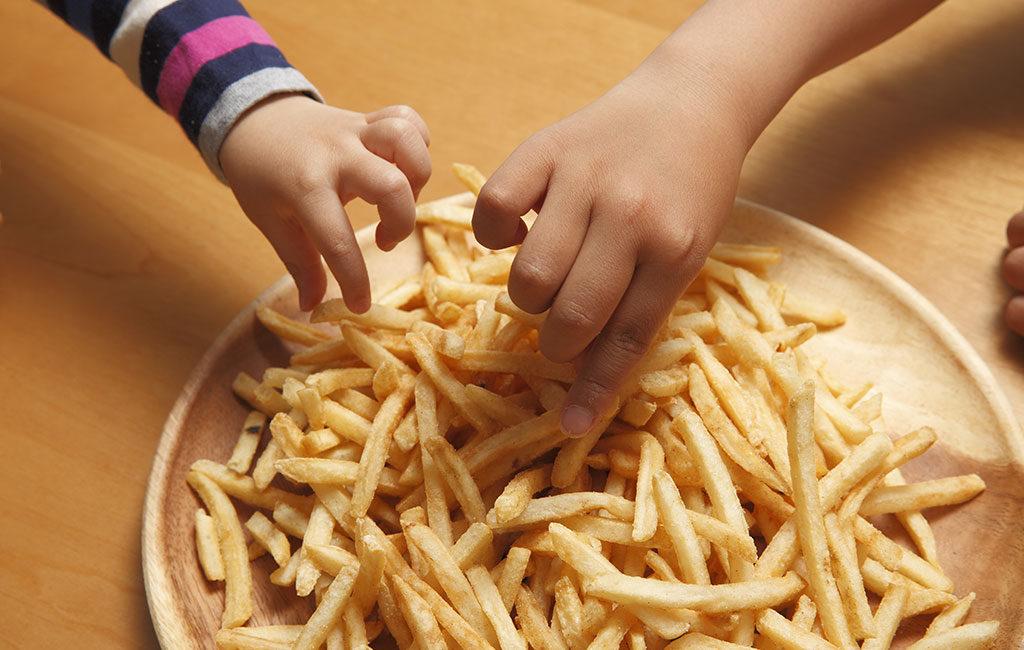 patatine piatto bambini