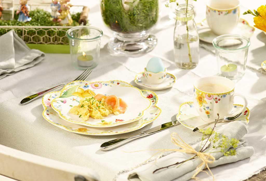 tavola pasqua colazione piatti