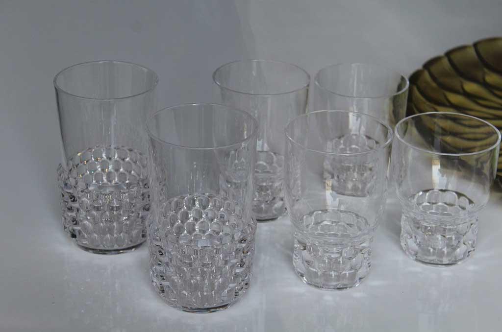 gruppo bicchieri alti di cristallo