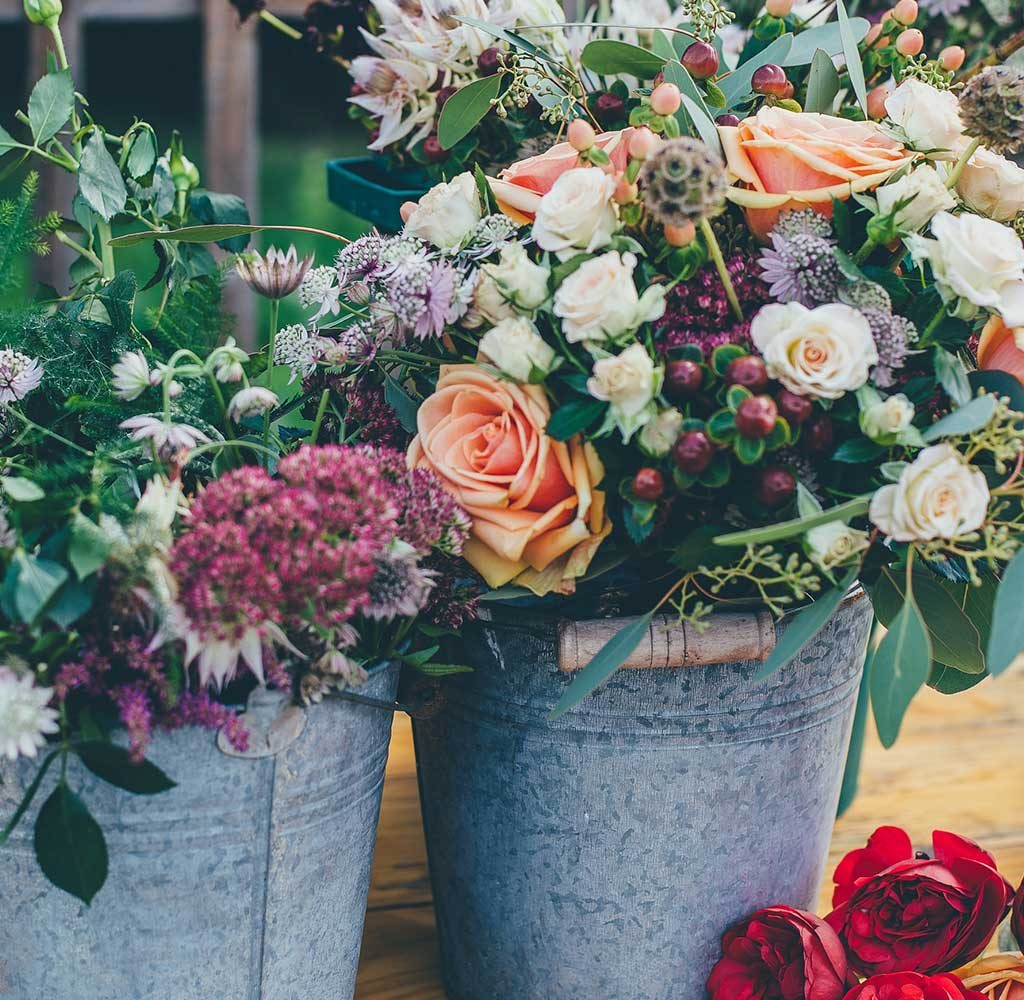 vasi fiori composizione