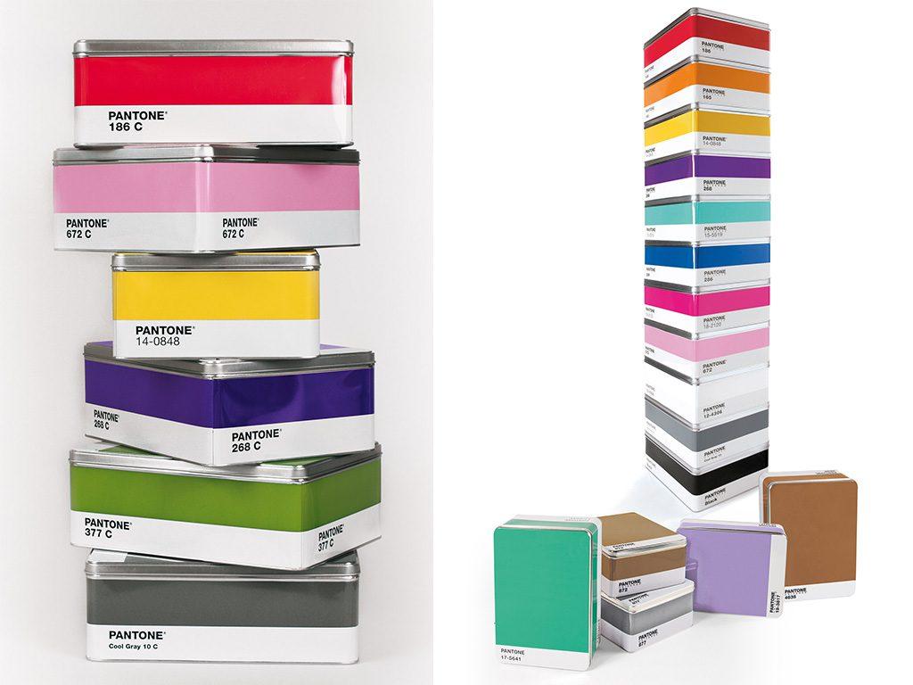 scatole contenitore pantone