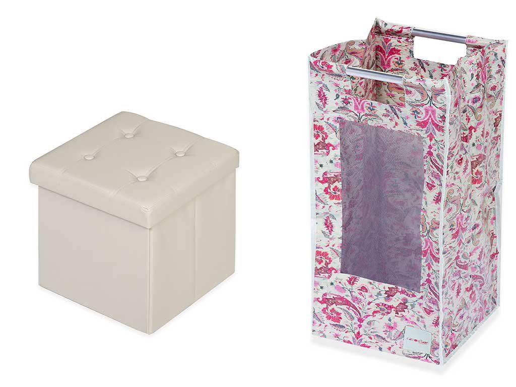 pouf e contenitore fiori