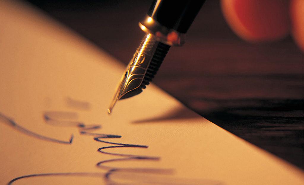 firmare a mano penna stilografica