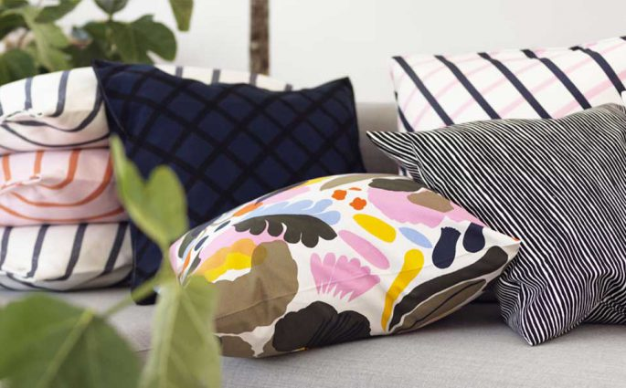 decorazioni cuscini tessuti