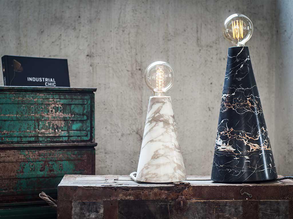 lampada marmo design