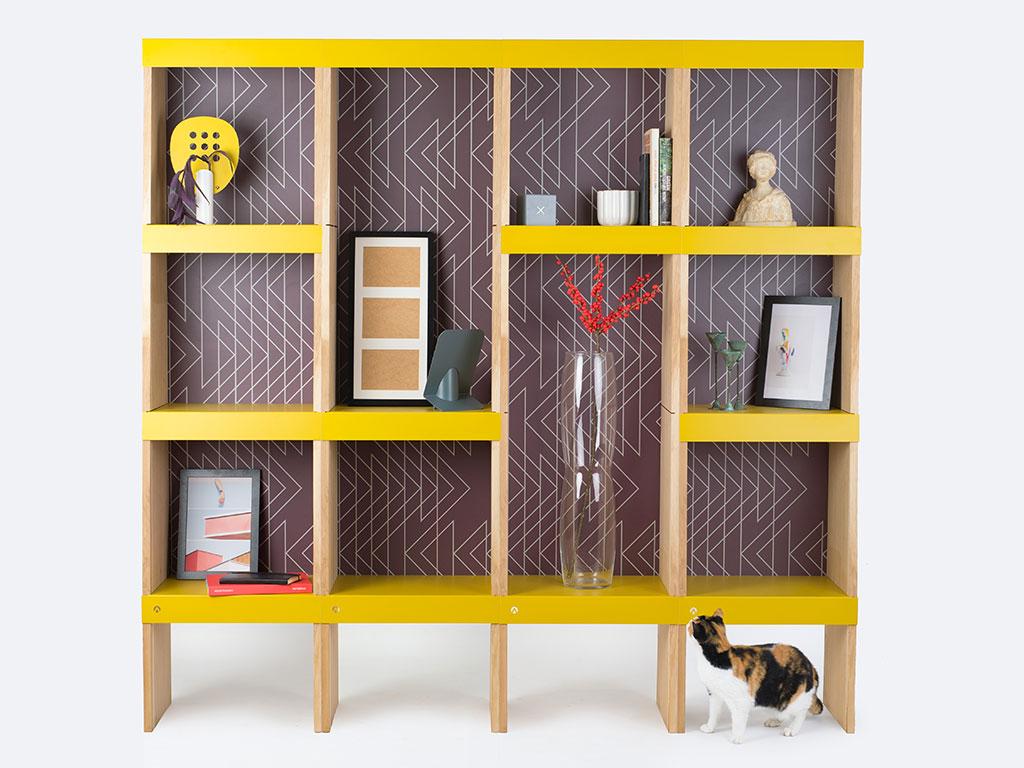 libreria design legno metallo