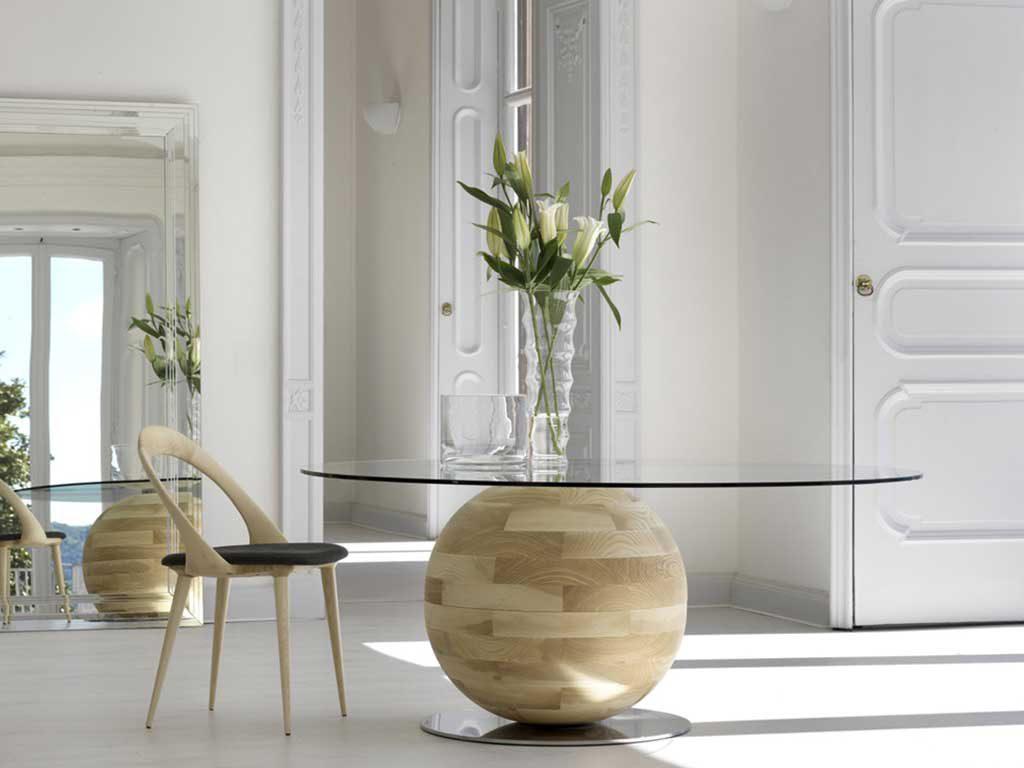 porada tavolo vetro legno