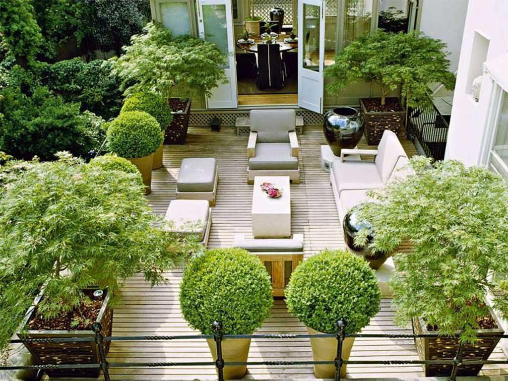 piante e vasi terrazzo