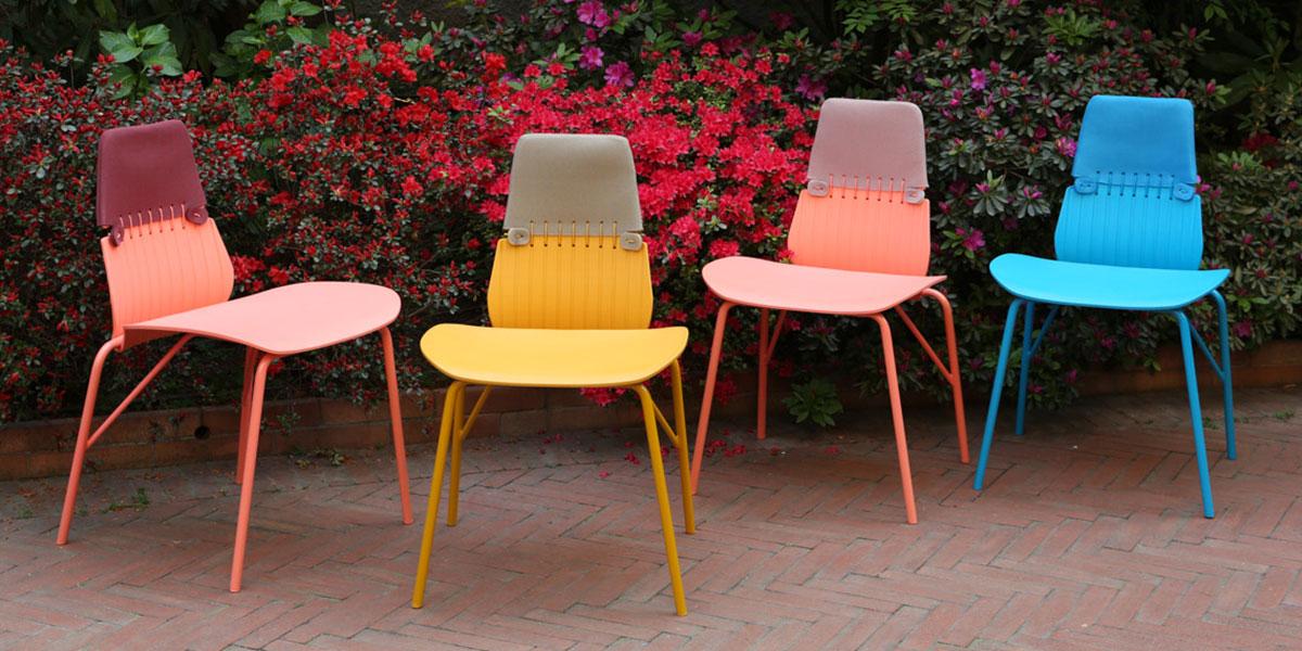 Sedie Da Esterno Colorate.Design Morbido O Colorato Per L Esterno La Casa In Ordine