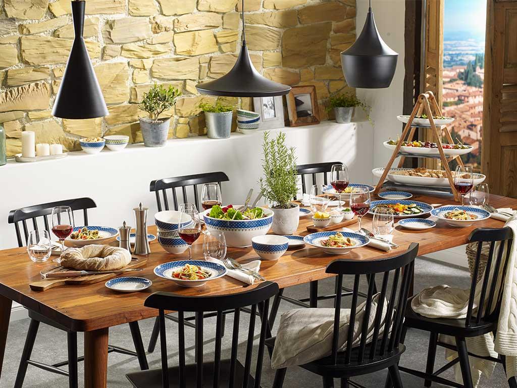 casale blu piatti ceramica villeroy & boch