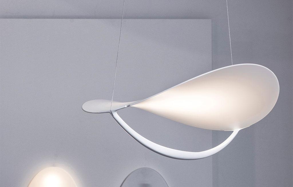 lampada sospesa bianca grande