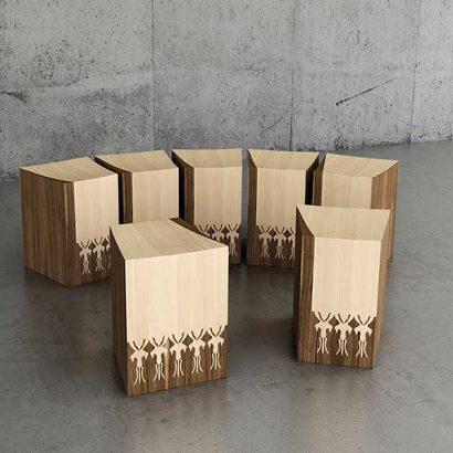 sgabello legno design