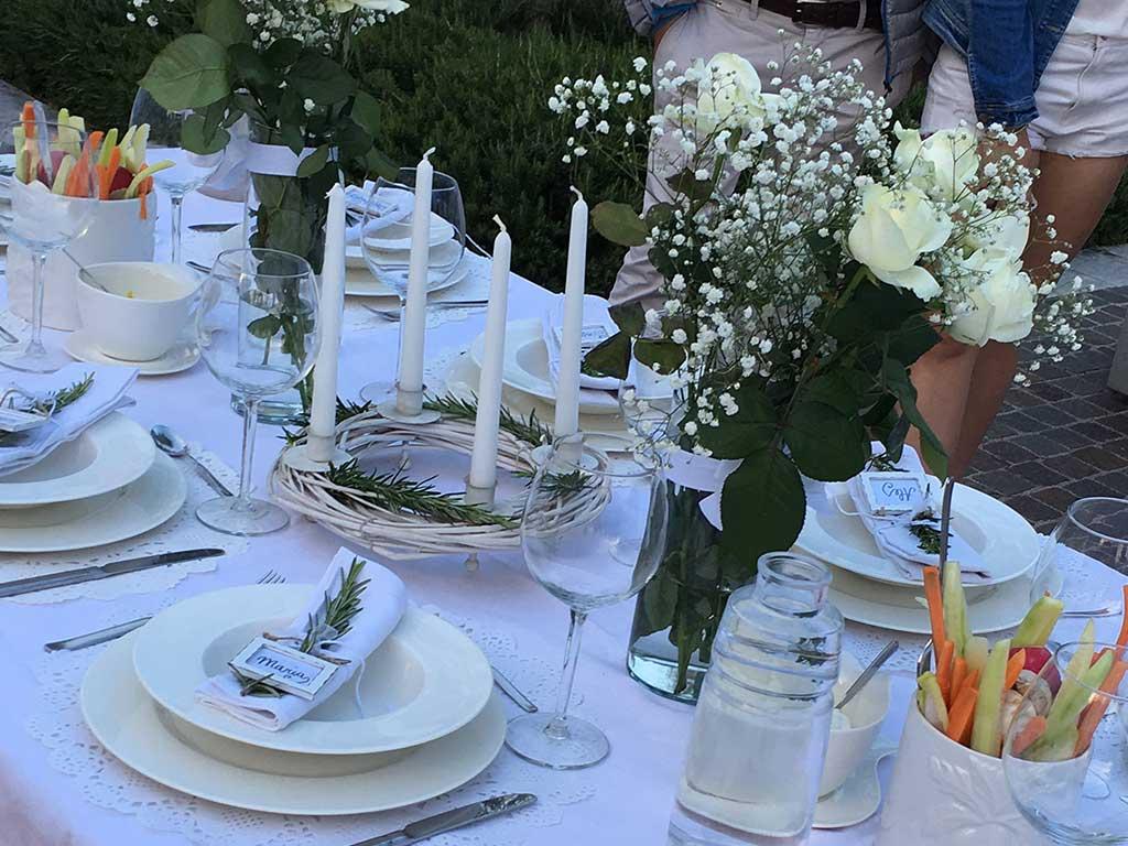 tavolo diner en blanc lago di garda