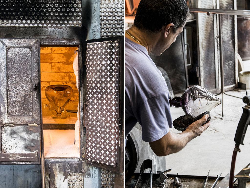 vaso vetro fornace