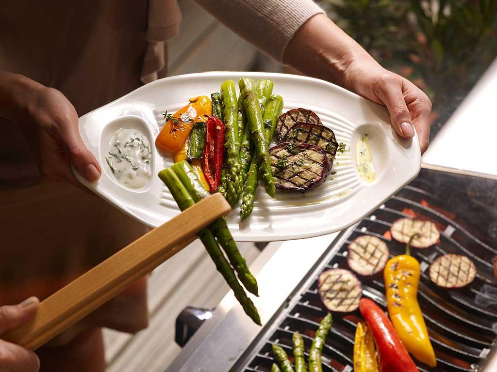 vassoio per verdure griglia