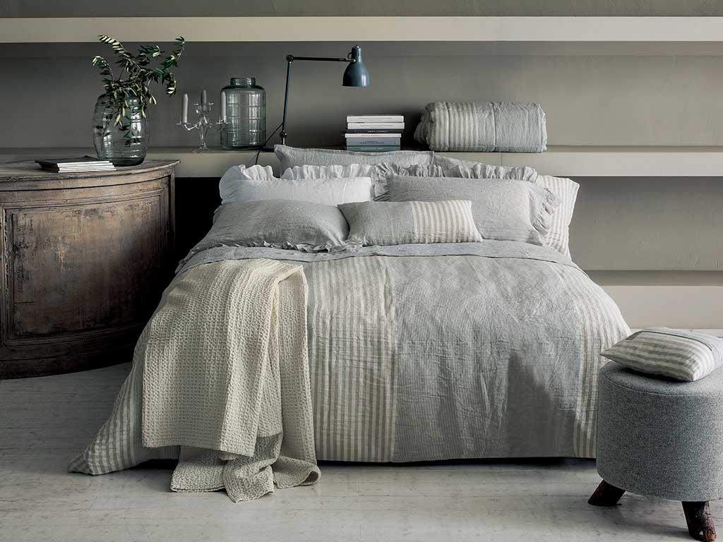 biancheria letto lino