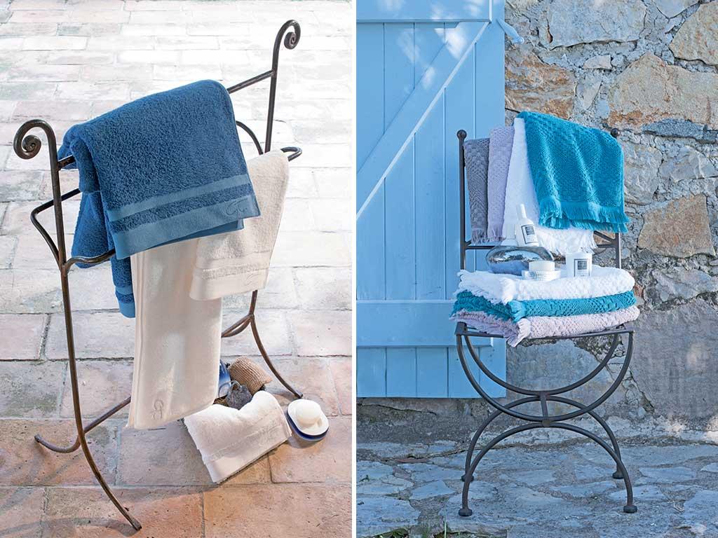 asciugamani colorati casa