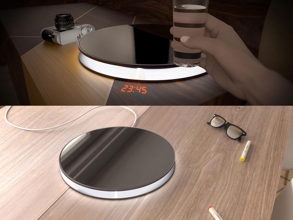 lampada tavolo design sveglia
