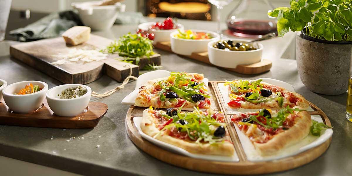 piatto per pizza porzioni