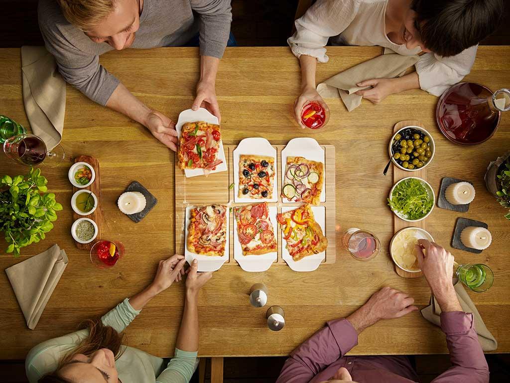 vassoio piatto pizza