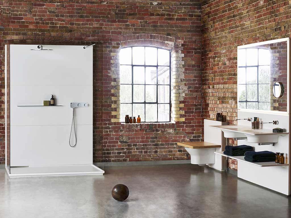bagno industrial stile