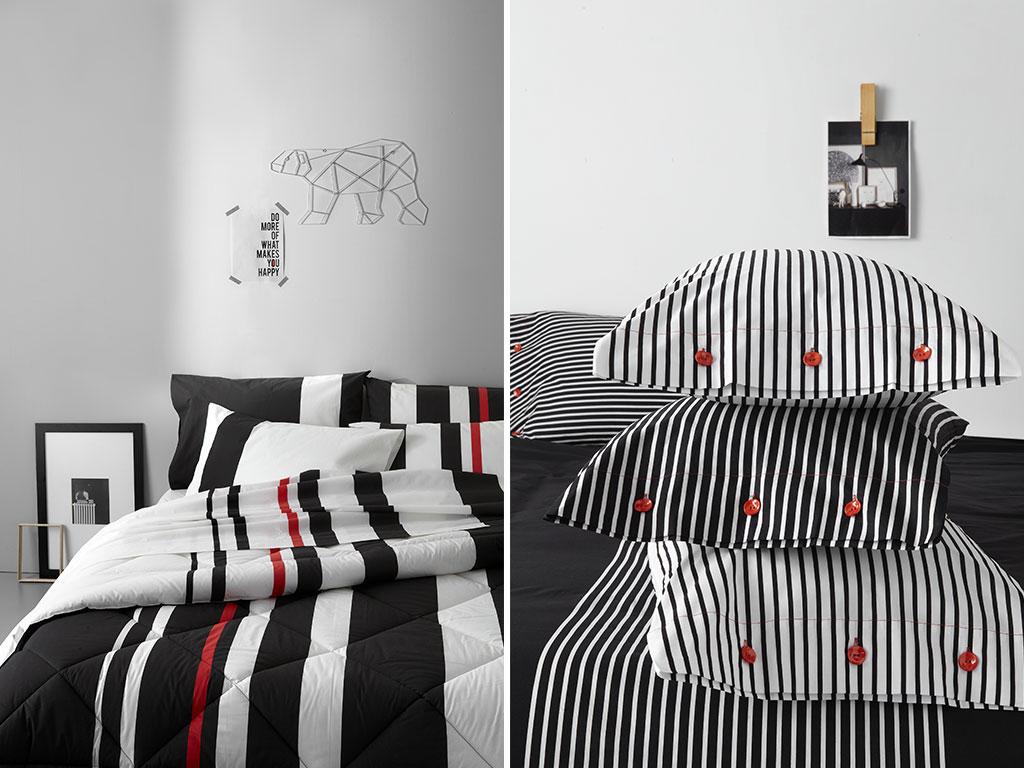 lenzuola letto nero