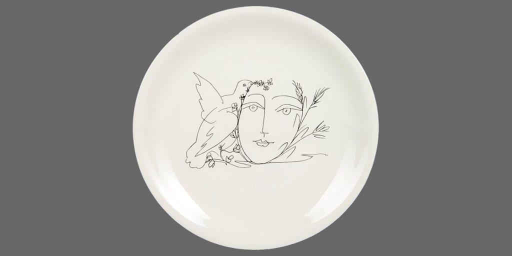 piatto ceramica decorato a mano