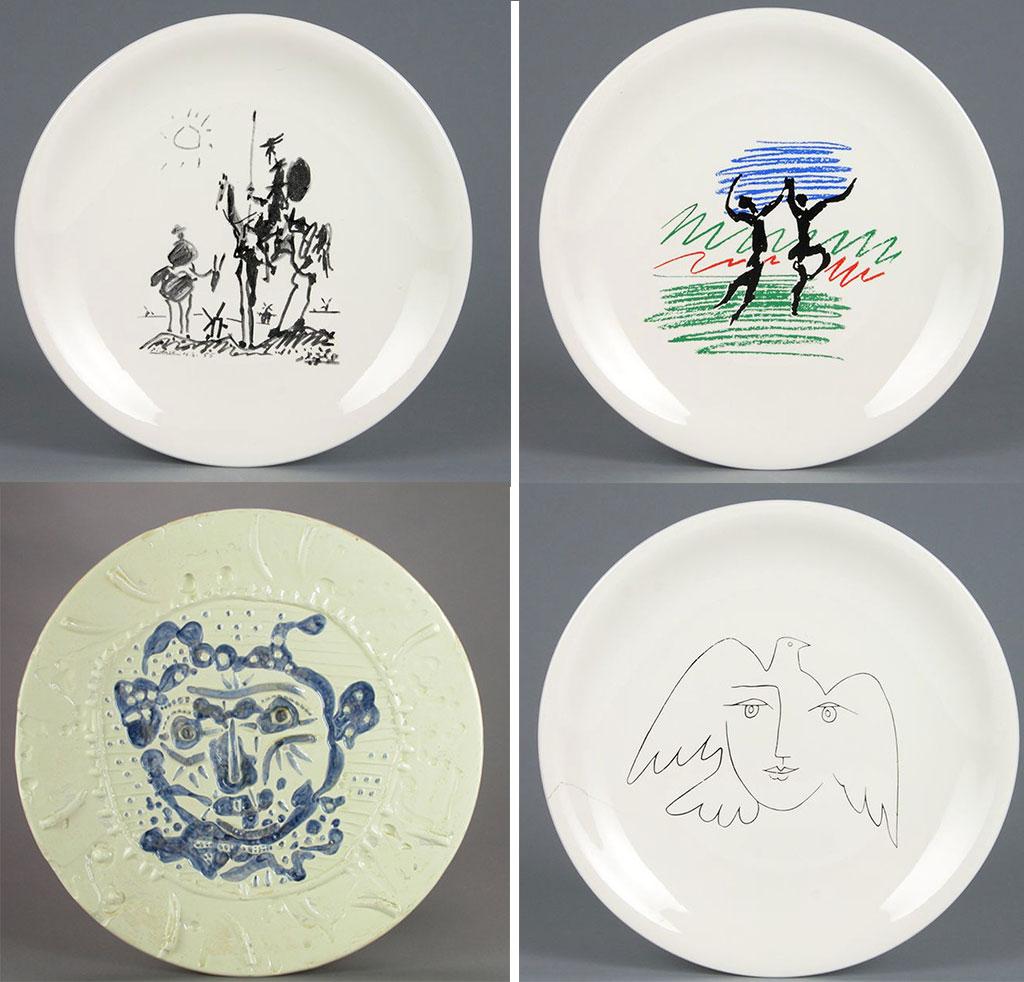 mostra piatti ceramica