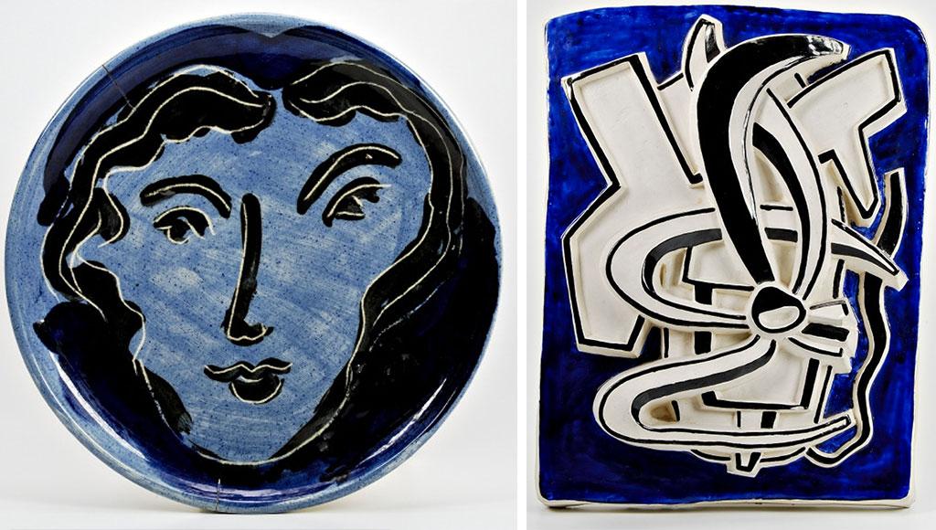 piatti ceramica decorati mano