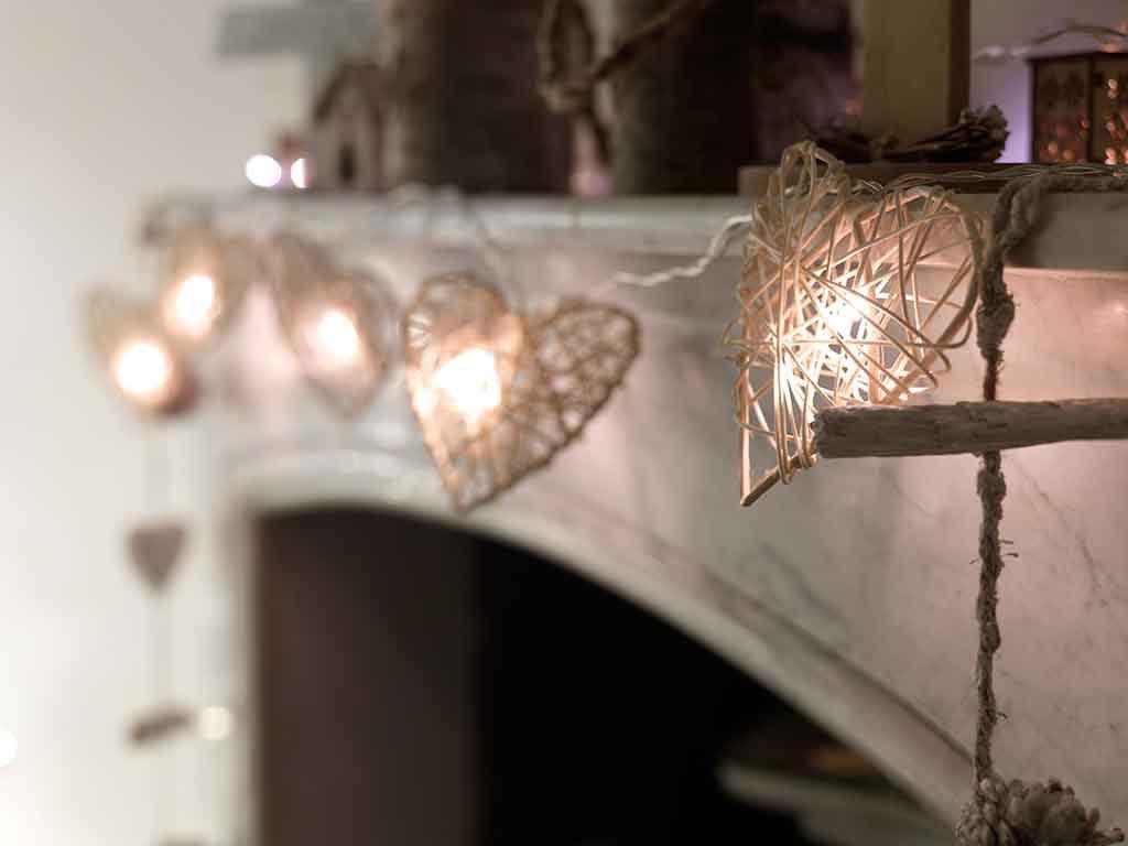 decorare casa luci natale