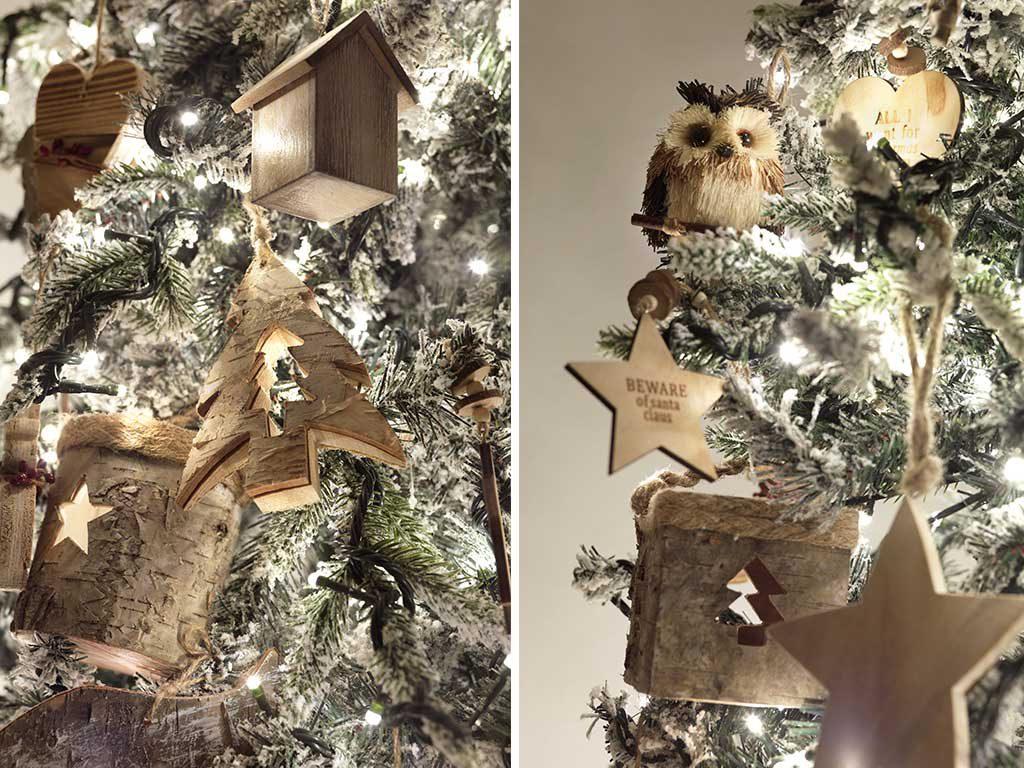 decorazioni albero natale legno