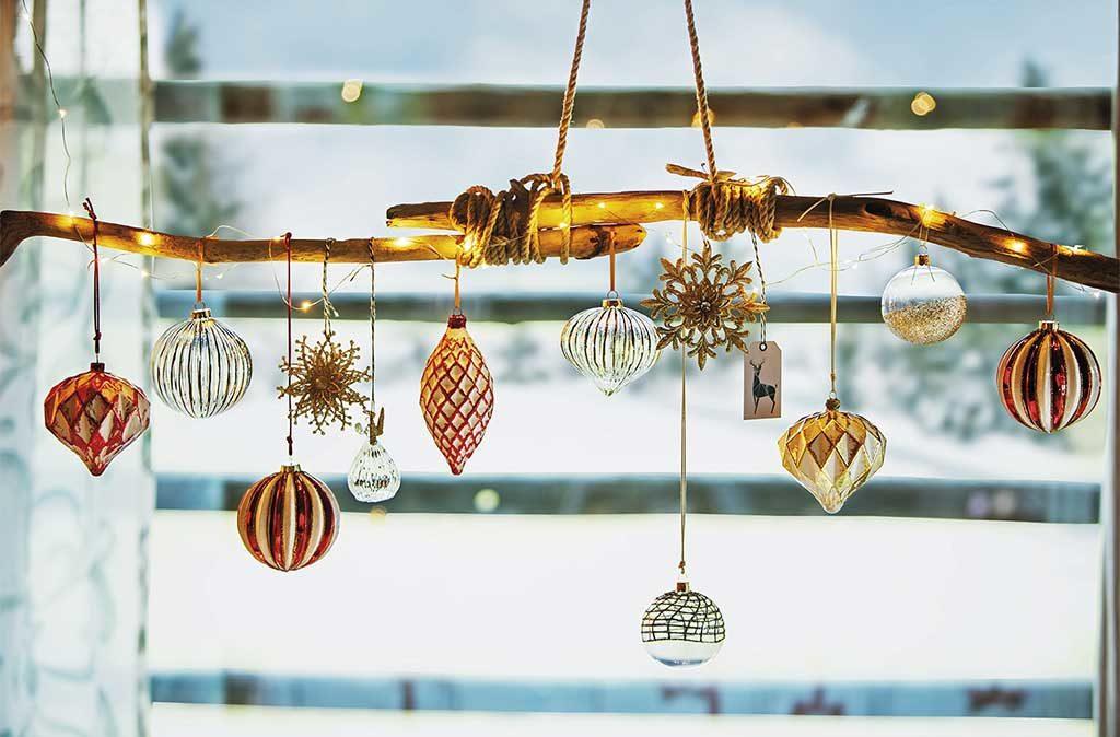 decorazioni palline natale ramo