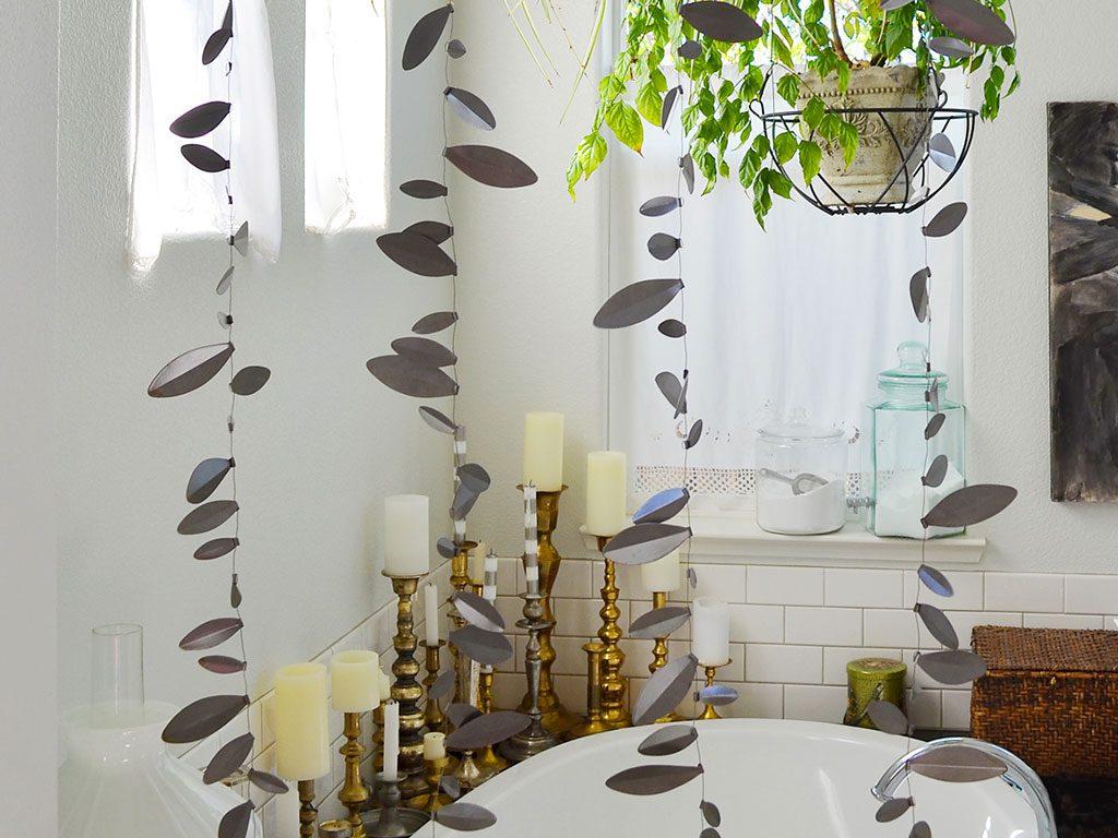 piante sospese bagno