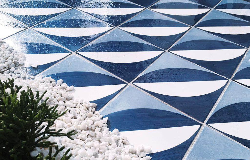 azzurro piastrelle gio ponti