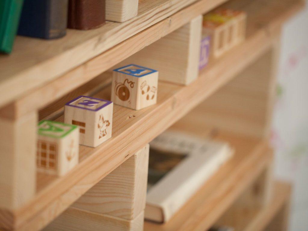 libreria mobile contenitore legno