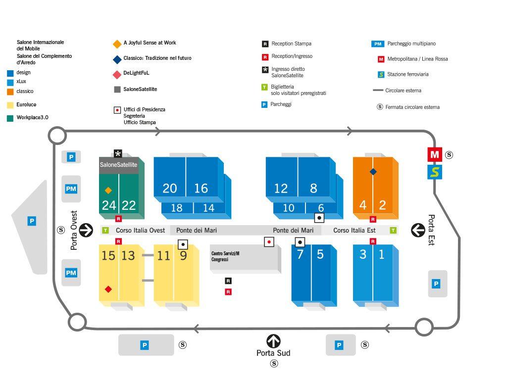 salone del mobile 2017 piantina