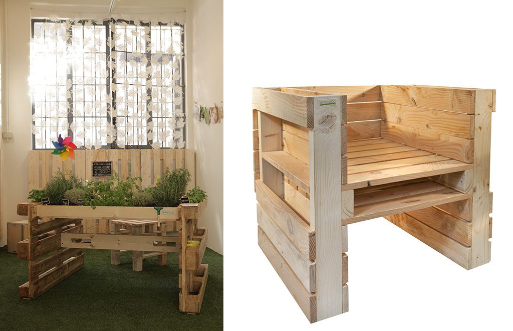 poltrona fai da te legno riciclo