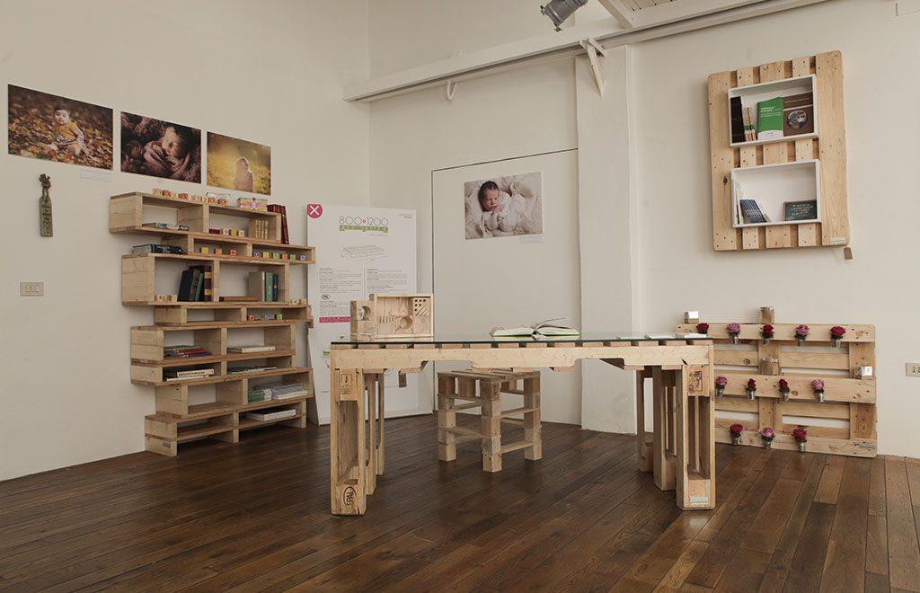 scrivania legno fai da te riciclo pallet